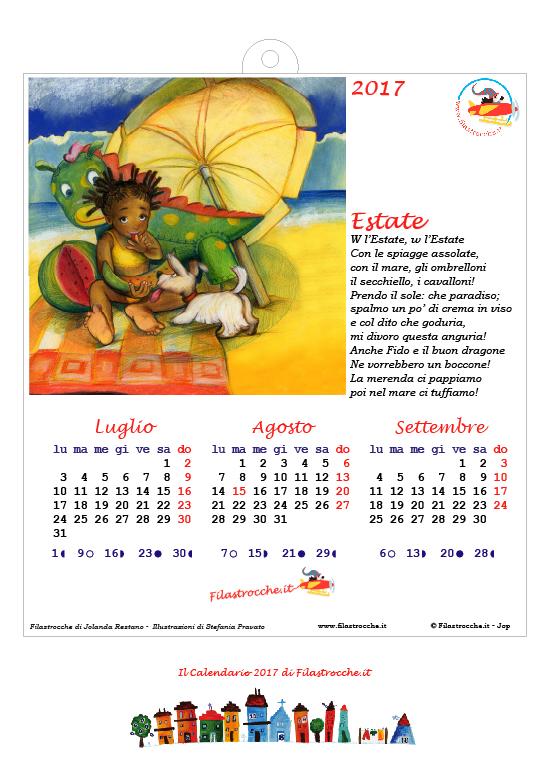 Calendario 2017 Stagionale - Completo, Prima versione