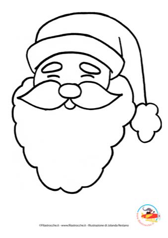 Coloriamo il natale disegno da colorare babbo natale for Disegni disney facili da disegnare