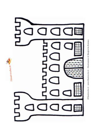 » Disegno da colorare - Castello