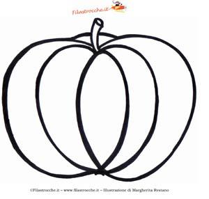 Coloriamo Halloween Disegno Da Colorare La Zucca