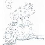 Disegno da colorare – Giulio Coniglio