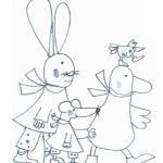 Disegno da colorare – Giulio Coniglio, seconda versione