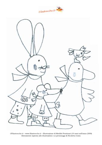 Disegno Da Colorare Giulio Coniglio Seconda Versione