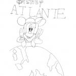Disegno da colorare – Topolino con l'Atlante