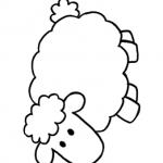 Coloriamo la Pasqua – Disegno da colorare, la Pecorella