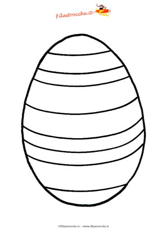 Coloriamo La Pasqua Disegno Da Colorare L Uovo Di Pasqua A Strisce