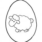 Coloriamo la Pasqua – Disegno da colorare, l'Uovo di Pasqua con la pecorella