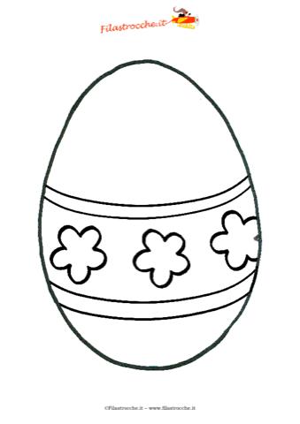 Coloriamo La Pasqua Disegno Da Colorare L Uovo Di Pasqua A
