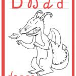 Abbecedario da colorare – Lettera D