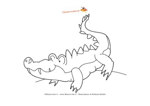 Disegno da colorare coccodrillo for Coccodrillo da colorare