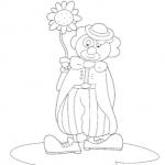 Disegno da colorare – Pagliaccio