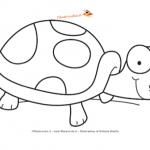 Disegno da colorare – Tartaruga