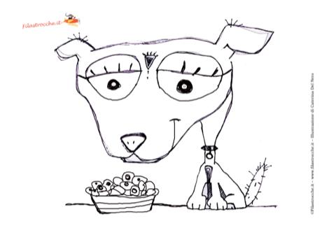 Disegno da colorare cane for Cane disegno da colorare