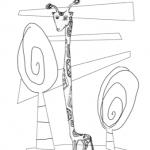 Disegno da colorare – Giraffa