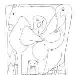 Disegno da colorare – Incastro di animali