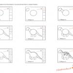 Impariamo a disegnare – Il dinosauro, le istruzioni
