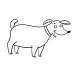 Disegno da colorare – Cane