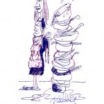 Disegno da colorare – La matrigna di Cenerentola