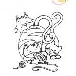 Disegni da colorare: i gattini