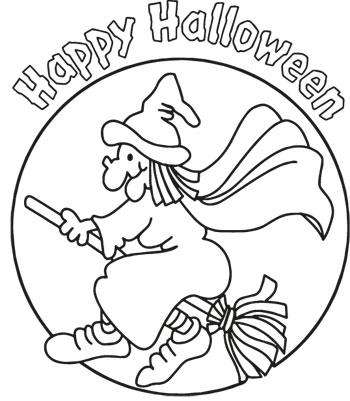 Halloween9 strega su scopa. Ad Halloween divertiti a colorare la strega di  Halloween sulla ... feb67d955db0