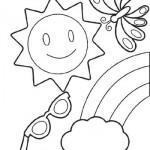 Colora con Crayola! Arcobaleno, sole e farfalle