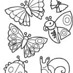 Colora con Crayola! Farfalle, coccinella e lumachina