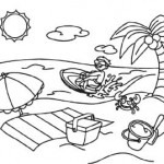 Colora con Crayola! La spiaggia e la moto d'acqua