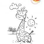 Disegni da colorare: la giraffa