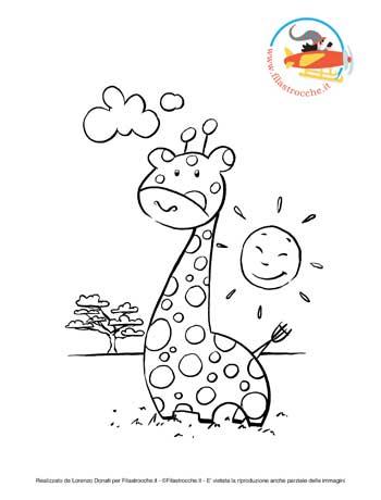 Disegni Da Colorare La Giraffa