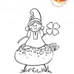 Disegni da colorare: il folletto e il fungo