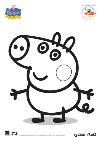 Peppa pig disegni da colorare george for Maschere di peppa pig da colorare