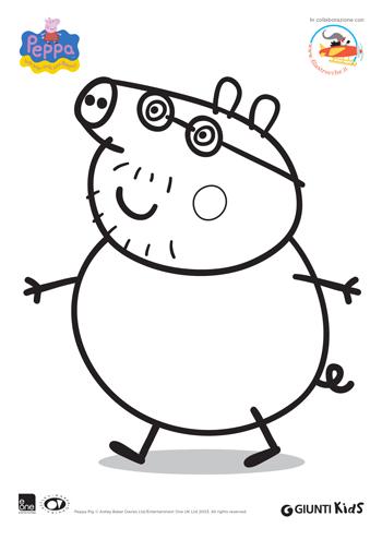 Peppa Pig Disegni Da Colorare Papà Pig