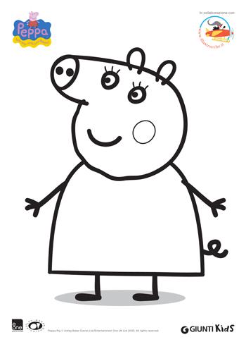 Peppa Pig Disegni Da Colorare Nonna Pig