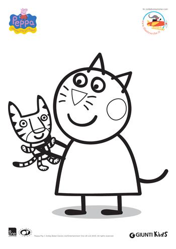 Peppa pig disegni da colorare candy gatto for Peppa pig da stampare