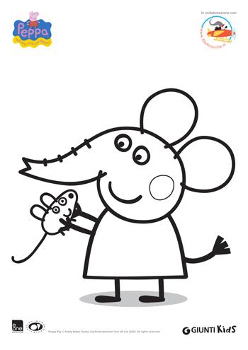 Peppa Pig Disegni Da Colorare Emily Elefante