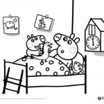 Peppa Pig: disegni da colorare: Peppa Pig a nanna