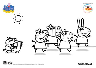 Peppa Pig Disegni Da Colorare Peppa Pig E I Suoi Amici