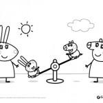 Peppa Pig: disegni da colorare: George ai giardinetti