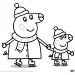 Peppa Pig: disegni da colorare: Peppa Pig sui pattini