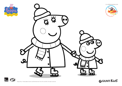 Peppa Pig Disegni Da Colorare Peppa Pig Sui Pattini