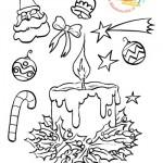 Disegni da colorare: decorazioni natalizie