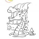 Disegni da colorare: drago d'acqua