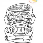 Disegni da colorare: lo scuolabus