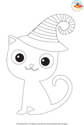 Disegni Da Colorare Per Halloween Il Gatto