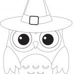 Disegni da colorare per Halloween: il gufo