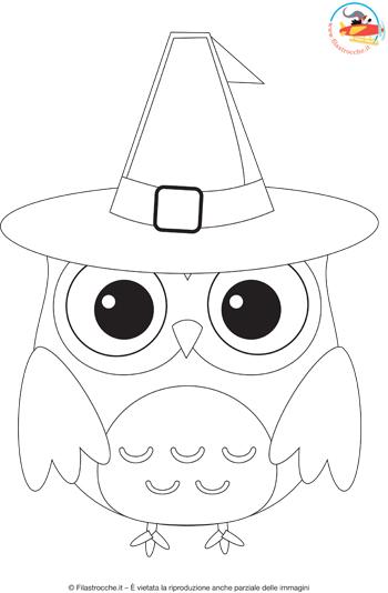Disegni da colorare per halloween il gufo - Come disegnare un cartone animato di gufo ...