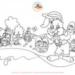 Caccia alle uova di Pasqua: colora il coniglietto