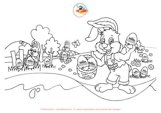 Caccia Alle Uova Di Pasqua Colora Il Coniglietto