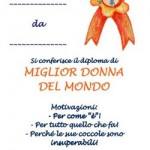 Diploma per la Festa della Donna