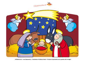 Immagini Di Natale Presepe.Decorazione Di Natale Con Il Presepe Filastrocche It Per